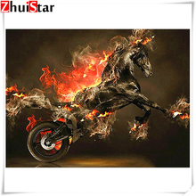 5D DIY diamond painting motorcycle full square / round diamond embroidery cross stitch embroidery mosaic decoration ZH mooncresin diamond painting cross stitch comfortable tiger animal diy diamond embroidery full round 5d diamond mosaic decoration