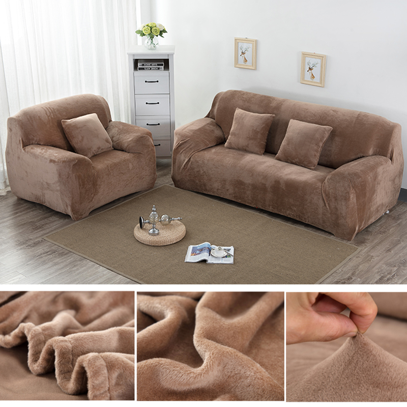 US $4.7 30% OFF|1pc Plush Thicken Universal Sofa Cover All inclusive  Elastic Sectional Couch Cover Anti dirty Sofa Covers for Living Room-in  Sofa ...