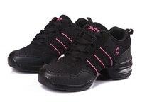 New Soft Outsole Breath Dance Shoes Women Sports Feature Dance Sneakers Jazz Hip Hop Shoes Woman