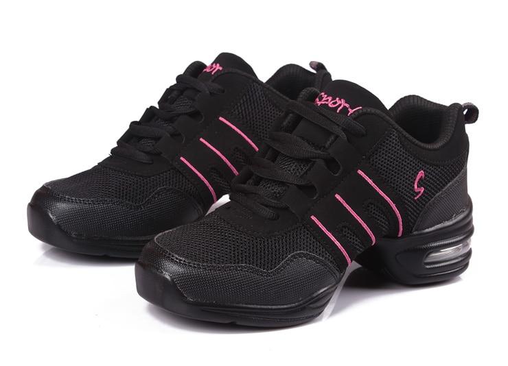 Nueva suave suela danza breath Zapatos mujeres deportes característica danza sneakers Jazz hip hop Zapatos mujer bailando zapatos movefun 61