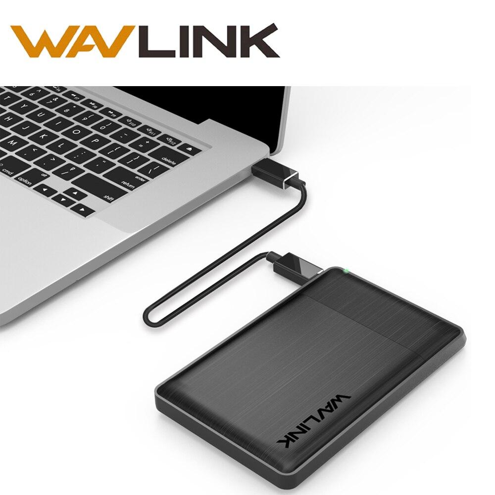 Wavlink SATA USB 3.1 Disque Dur Case Boîtier Externe Lumière pour 7mm 9.5mm 2.5 Pouce SATA/HDD/SSD Avec USB Cable & Tournevis