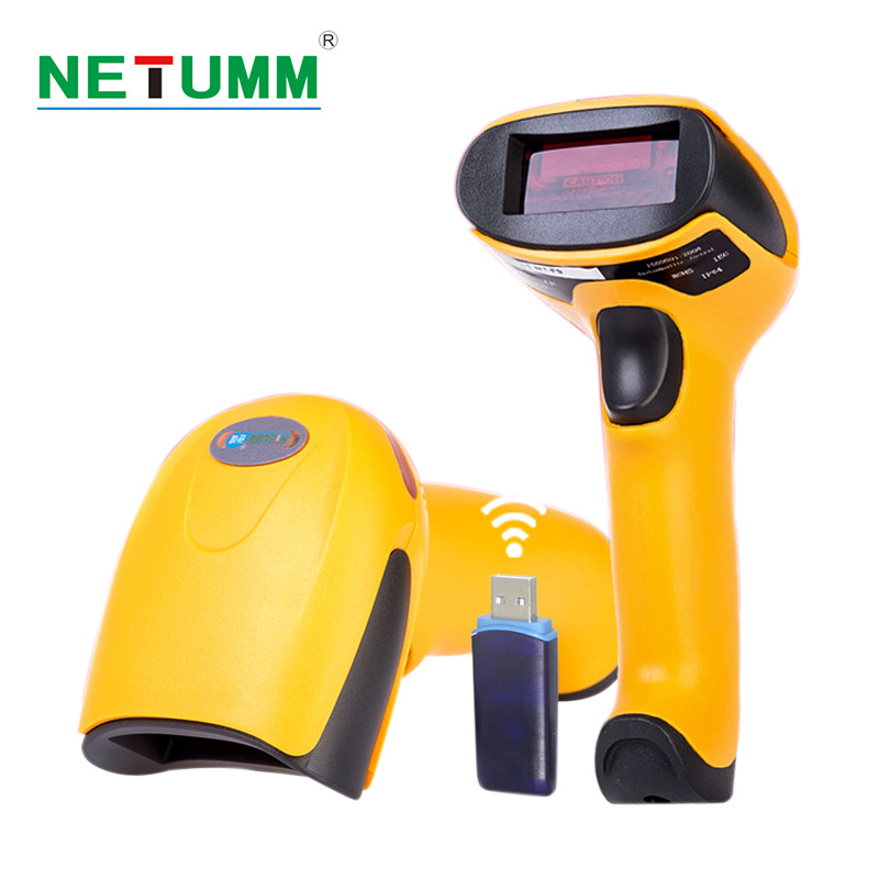 Sans fil barcode Scanner NT-2028 haute sensibilité 433 mhz barcode scanner portable Longue Portée Sans Fil USB reader pour POS Inventaire