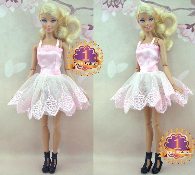Usine en gros 50 ou 100 pcs / lot Mini robe jupe de mode pour poupée - Poupées et accessoires - Photo 5