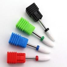Brocas de uñas de cerámica Accesorios de la máquina de manicura Rotary Eléctrico Nail Files Cortador de manicura Nail Art Tools