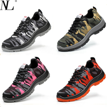 Men and women Safety Shoes Breathable steel toe shoes Anti-smashing Anti-piercing Anti-skid wear resisting Work Shoes