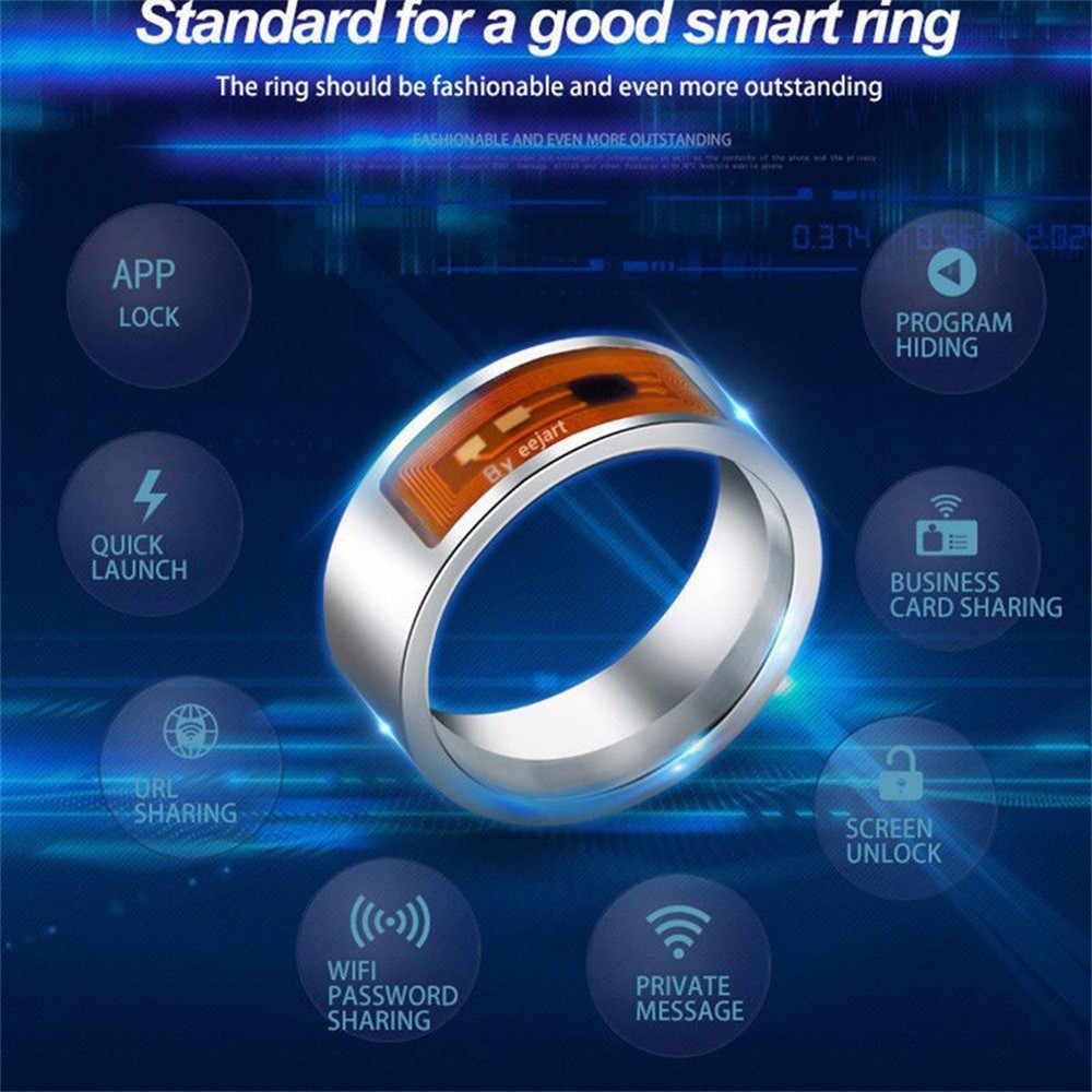 Лучшие Продавцы NFC многофункциональное водонепроницаемое умное кольцо умные часы палец цифровое кольцо july11
