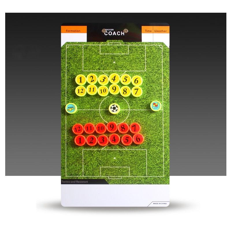 Bordi i Trajnerit të Futbollit me libër lëndinë të gjelbër Clipboard Coaching Soccer set The coaching equimpment Taktike Plate me shumicë