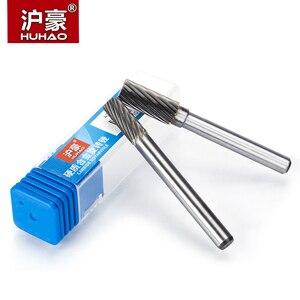 Image 2 - Cortador de acero de tungsteno HUHAO 1 pieza 6mm, cabezal de tallado de Metal, Lima rotativa, broca de enrutador para Pulido de metales tipo A