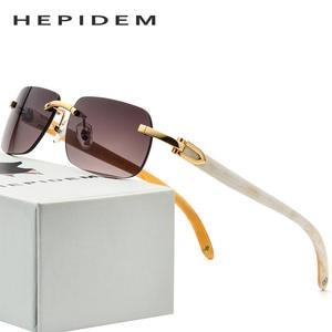 b1badc96d55a hepidem Glasses Frame Women Square Mens Sunglasses Luxury