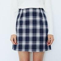 Preppy Style Women Plaid Skirts High Waist Slim Hip Skirt Fashion Work OL Skorts Spring Summer Autumn Career Skirt S XL