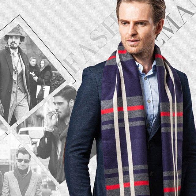 2016 последний тип мода зимний шарф для мужчин долго стиль кашемир толщиной тепло мужчины шарфы кисточкой шали с бахромой
