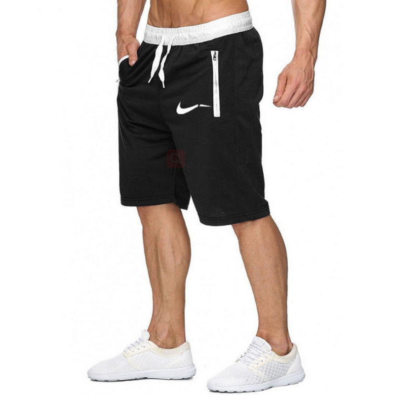 Color patchwork Men jogger   shorts   sports   shorts   men's Bermuda   shorts   2019 summer men's casual men's knee long   shorts
