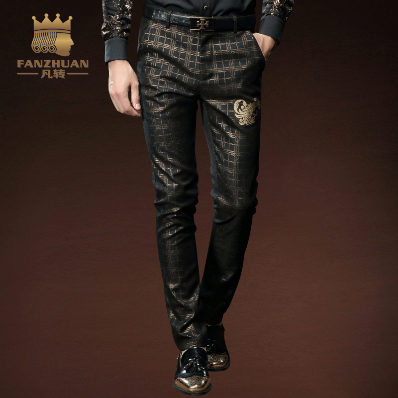 FANZHUAN Brands Fashion Stage Winds High Quality Men Pants Straight Spring And Fall Long Male Casual Trousers Full Length Mid