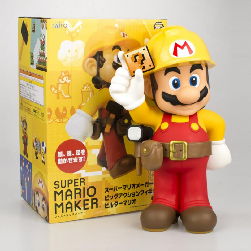Japanese 30cm Super Mario Brothers Maker 30th Anniversary Bros Plumbers modern design PVC Action Figure Collectible Model Toy 22cm japanese version macross f 30th anniversary commemorative edition ranka lee pvc action figure gift for boys