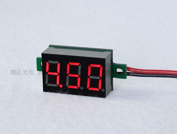 <font><b>10pcs</b></font> 0.36'' Professional LCD digital <font><b>voltmeter</b></font> 4.5-30V voltimetro Red LED Amp Volt Meter Gauge voltage meter DC 4.5V to 30V image
