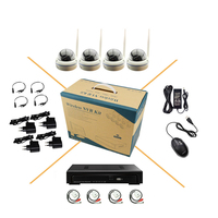 WiFi Audio Dome CCTV Set 720P Indoor Network IP Camera Infrared Security Monitoring P2P 8CH NVR