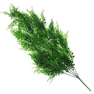 Image 5 - 82 см искусственные зеленые горшечные растения стена из виноградных лоз Висячие поддельные листья растения для украшения дома сада имитация искусственная Орхидея цветок ротанга
