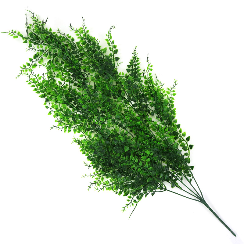 Image 5 - 82cm Artificial Green Plant Vines Wall Hanging Fake Leaves Plant for Home Garden Decoration Simulation Orchid Fake Flower Rattan-in Artificial & Dried Flowers from Home & Garden