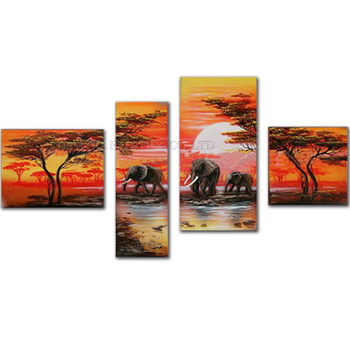 Skilled Artist Handmade High Quality Abstract Southeast Asia Landscape Oil Painting on Canvas Beautiful Landscape Oil Painting