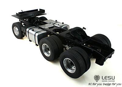 LESU Scania 6*4 Metal Chassis 1/14 TAMIYA RC Tractor Truck Model Car Motor DIY стоимость