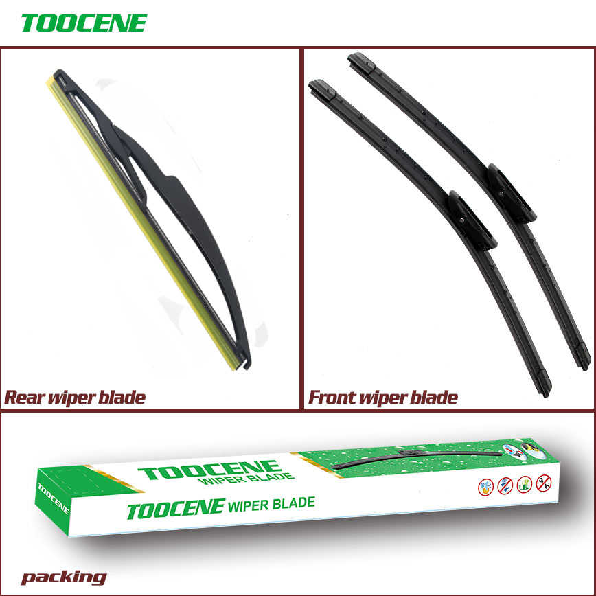 Front and Rear Wiper blade with arm For Renault Grand Scenic/Scenic II 2005-2009 Windshield windscreen  Car Accessories