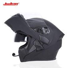 Moto Rcycle Bluetooth Caschi da Corsa Degli Uomini Ece Dot Impermeabile Casque Moto Lavato Interno Deodorante Flip Up Moto Casco