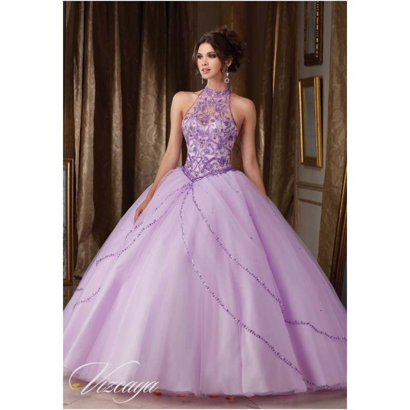Romantic Crystal Beading Ruffles Ball Gown Quinceanera ...