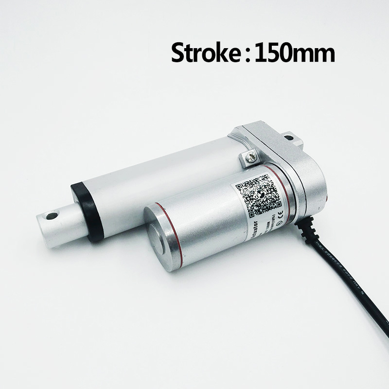 Actuador lineal eléctrico 150mm 12 V/24 V dc motor lineal motor controlador 100/200/ 300/500/600/750/800/900/1100/1300/1500N