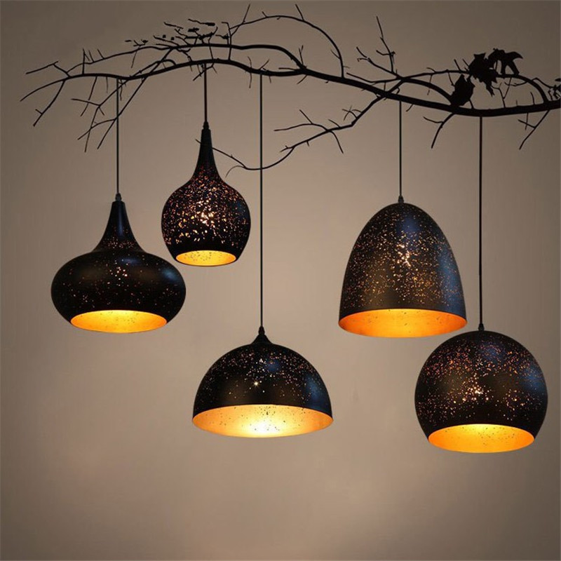 Loft vintage LED pendant lights industrial cafe bar pendant lamp wrought iron rust carved hollow lighting fixture dinning room zx retro wrought iron industrial led pendant lamp creative sachs shape led artistic lighting fixture cafe bar restaurant lamp