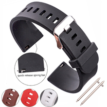 Silicone Ruber Watch Strap Band 18mm 20mm 22mm 5 Colors Watchbands Waterproof Belt Accessories Quick Release Spring Bar