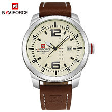 2017 Топ Элитный бренд NAVIFORCE для мужчин Военная Униформа спортивные часы для мужчин кварцевые Дата мужские кожаные Наручные часы Relogio Masculino