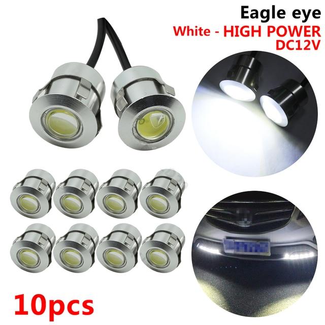 10 pcs 12 V DRL Olho de Águia LEVOU Luzes Diurnas Branco Puro Para Car Auto Backup Reversa Luz traseira de Nevoeiro lâmpadas de Luzes de Condução