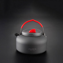 1pcs 1.4l Outdoor Kettle Camping Pot Sets Food Cooker Water Teapot Pot Aluminum And Stainless Steel Silica Gel