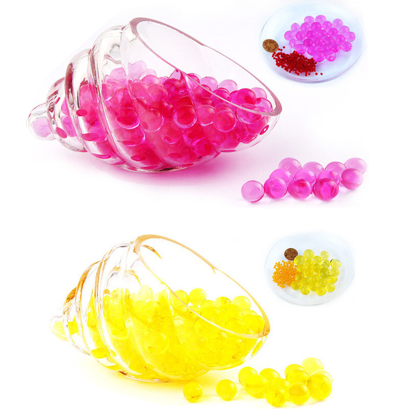 100 pcs Red multi colored Water Plant Flower Jelly Crystal Soil Mud Water Pearls Vase Soil Gel Beads Balls Bead