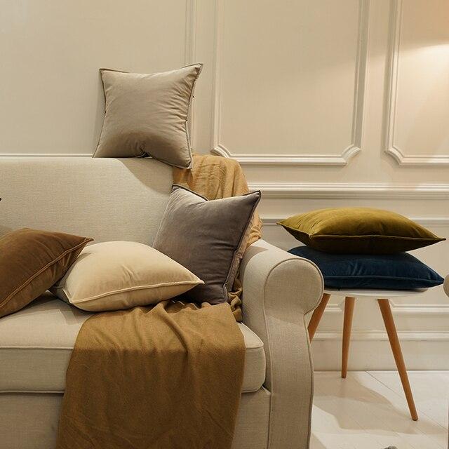 Avigers Velluto di Lusso Fodere per Cuscini Copertura del Cuscino di Colore Soli