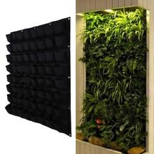 64 Карманный горшок для растений, вертикальный садовый подвесной зеленый настенный горшок, большие садовые горшки для балконов 100 см* 100 см