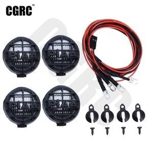 4pcs Led Spotlight Roof Light Lampshade For 1/10 RC Crawler Car Traxxas TRX4 Defender RC4WD D90 D110 Axial Scx10 90046 CC01 TF2(China)