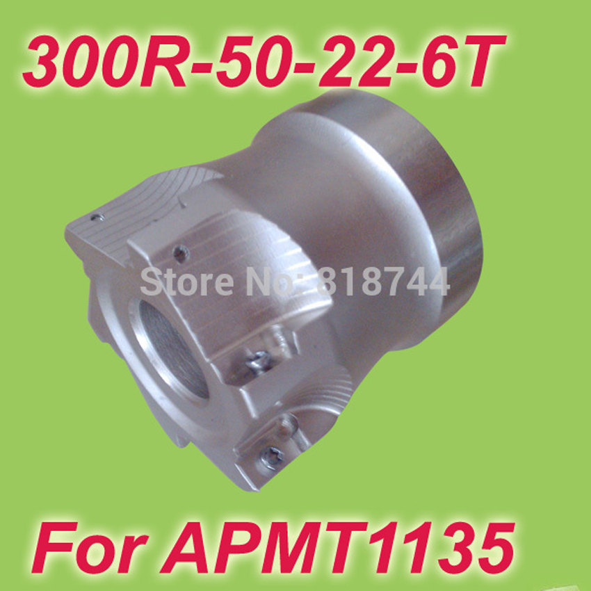 Free Shiping 300R-50-22-6T 90 Degree 6 Flute High Positive Face Mill 50mm 2 For APMT1135 Used From 300R 75 Degree Cutters