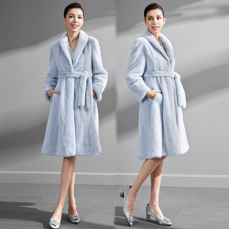 S-6XL Femme automne et Vêtements d'hiver manteau De Fourrure En Peau De Mouton femme moyen long Manteau de laine Femmes Fausse Fourrure De Vison manteau