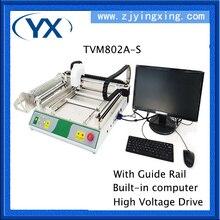 Smd/máquina de solda led máquina de montagem TVM802A-S, trilho de guia computador embutido movimentação de alta tensão