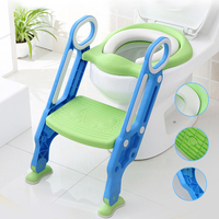 Baby Pot for Kids Toilet Seat With Adjustable Ladder Child Potty Chair Folding Toilet Training Seat Step Children Potty Seats