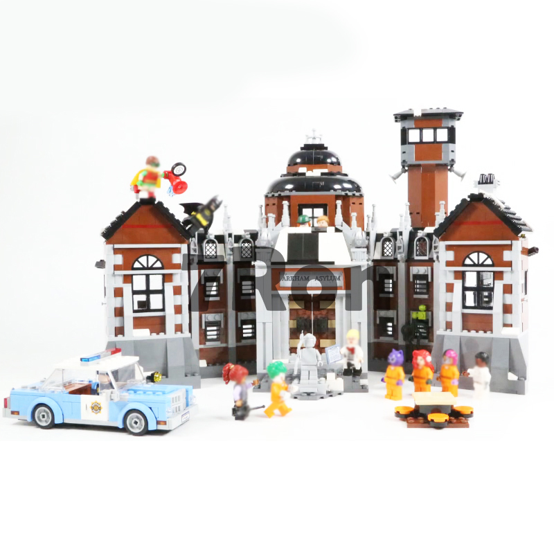 07055 1628pcs Batman Movie Series THe Arkham`s Lunatic Asylum Set Building Blocks Bricks Toys Compatible with Legoings <font><b>70912</b></font> image