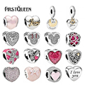 FirstQueen 2017 Hot Selling 100% 925 Sterling Silver Valentine's Day Beads Wonderful Love Charms Fits For Original Pan Bracelets
