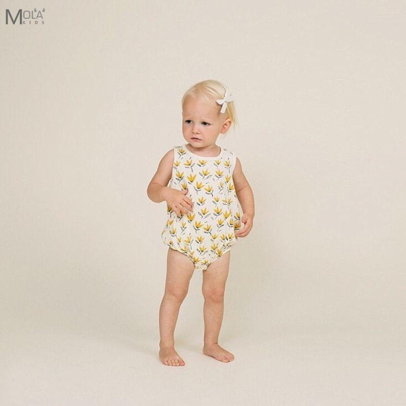 Kicsi pamut bébi ruhák Virágos pamutszárnyak Ujjatlan nyári - Bébi ruházat