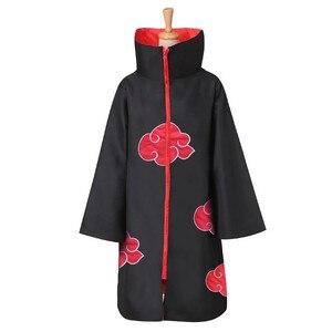 Anime Naruto Cosplay Costume Akatsuki Cloak Uchiha Itachi Shuriken Forehead Headband Accessories suits Cosplay S-XXL(China)