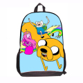 Fashion Adventure Time Backpack for Teen Boys Finn Adventure Time Backpack Casual Daily Bag Pack for Students Finn and Jake