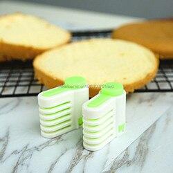 En gros 5 couches bricolage gâteau pain Cutter niveleur trancheuse coupe fixateur cuisine Accessoires outil