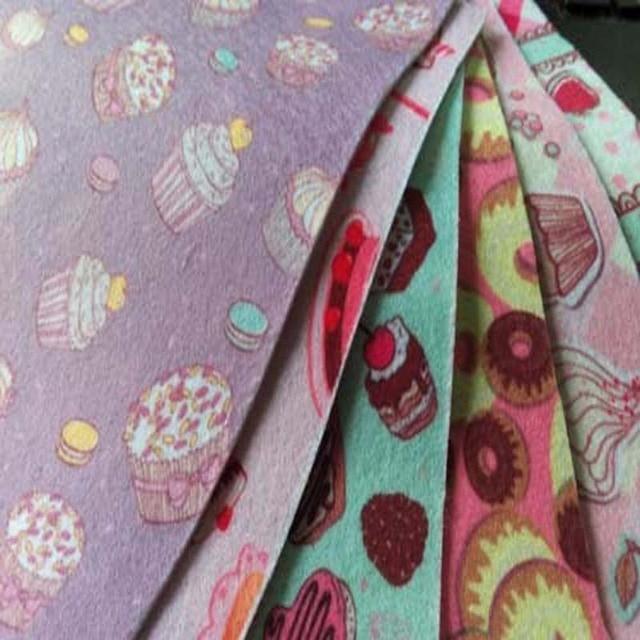 6 Designs 15x15 Cm Cartoon Kuchen Polyester Nonwoven Filzstoff Tuch