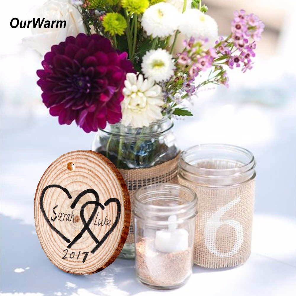 10 Diy Valentine S Day Gift And Home Decor Ideas: Ourwarm 10pcs Natural Wood Slices For Wedding Decoration