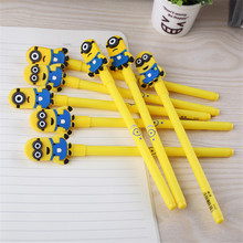 X412 cute Kawaii cartoon yellow daddy neutral pen Kids Gift Prize Stationery for office and students supplies wholesale(China)